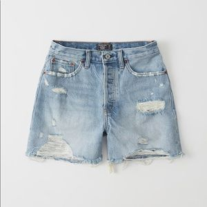 High rise distressed mom shorts vintage vibes